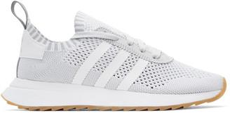 adidas Originals White & Grey Flashback Sneakers $120 thestylecure.com