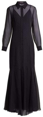 Max Mara Ugolina Dress - Womens - Navy White