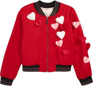 Truly Me Hearts a Flutter Bomber Jacket