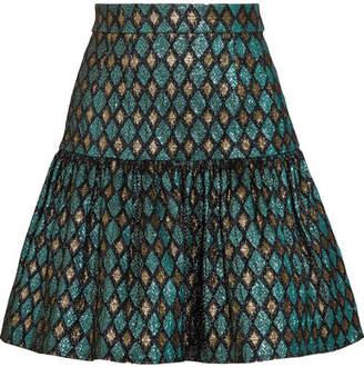 Dolce & Gabbana Metallic Jacquard Mini Skirt - Blue