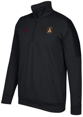 adidas Men's Atlanta United Fc Logo Set Quarter-Zip Fleece Pullover