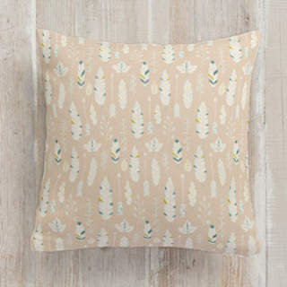 Rustic Feathers Square Pillow