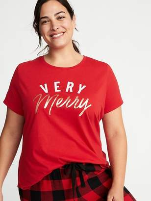 Old Navy EveryWear Christmas Graphic Plus-Size Tee