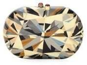 Silvia Furmanovich Marquetry 18K Yellow Gold Wood Clutch