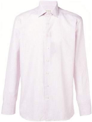 Etro fine check shirt