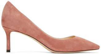 Jimmy Choo Pink Suede Romy 60 Heels