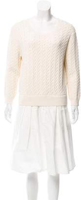 Band Of Outsiders Cable Knit Knee-Length Dress