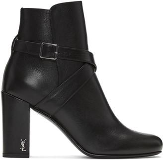 Saint Laurent Black Strap Babies Boots $995 thestylecure.com