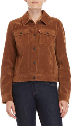 Levi's Modern Faux Leather Trucker Jacket