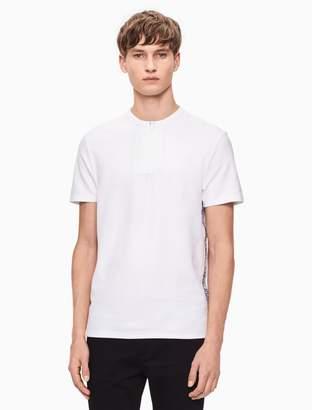 Calvin Klein regular fit logo henley shirt