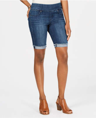 Style&Co. Style & Co Pull-On Denim Bermuda Shorts, Created for Macy's
