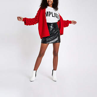River Island Red bobble knit cardigan