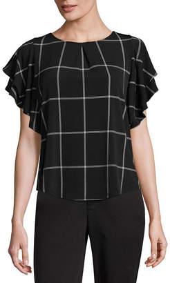 Liz Claiborne Flutter Sleeve Knit Blouse