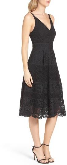 Women's Adelyn Rae Fit & Flare Midi Dress 5