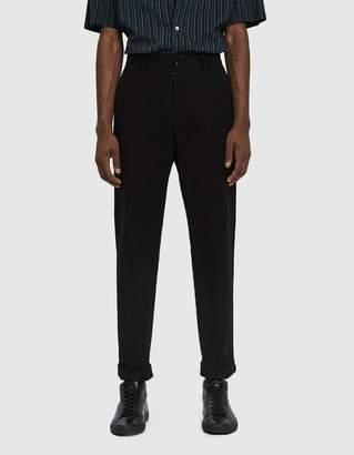 Maison Margiela Soft Brushed Chino Trouser in Black