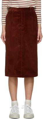 A.P.C. Brown Constance Skirt $265 thestylecure.com