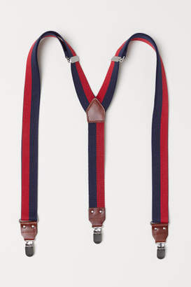 H&M Striped Suspenders - Blue