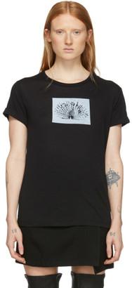 Ann Demeulemeester Black Peacock Print T-Shirt