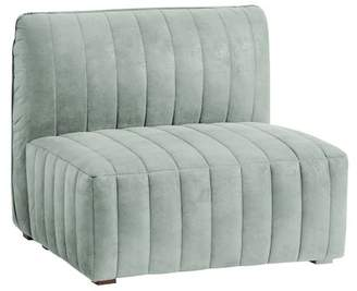 Pottery Barn Teen Bryce Channel Stitch Lounge Armless Chair, Light Pool Everyday Velvet