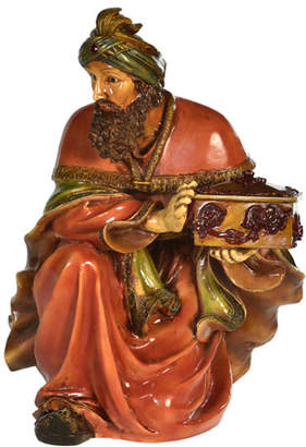 Live Form Small King Melchior Nativity Outdoor Christmas Decoration, 30""
