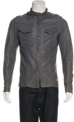 Neil Barrett Belt-Accented Leather Jacket