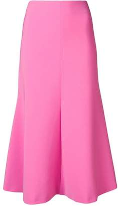 Awake flared midi skirt