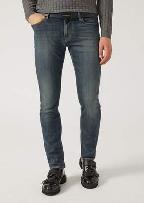 Emporio Armani J06 Slim Fit Stretch Cotton Denim Jeans