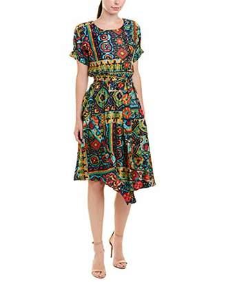 Eva Franco Women's Parlour Surplice Ruffle Neck Dress
