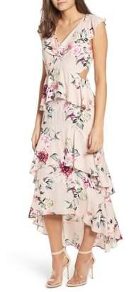 Leith Ruffle High/Low Maxi Dress