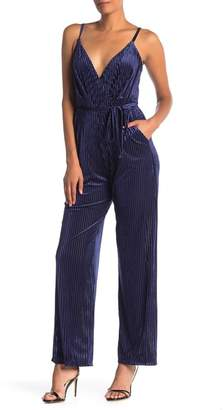 Laundry by Shelli Segal Ribbed Velvet Jumpsuit