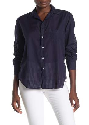 Frank And Eileen Sheer Stripe Button Front Shirt