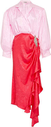 Betta DoDo Bar Or Embellished Two Tone Dress