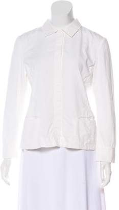 Narciso Rodriguez Long Sleeve Button-Up Top