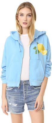 Wildfox Lemonade Zip Up Hoodie $140 thestylecure.com