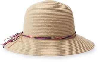 Mudd Juniors' Straw Bucket Hat