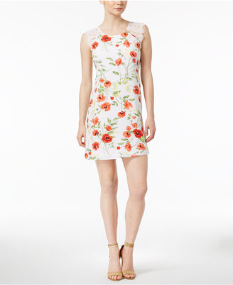 kensie Wild Poppies Floral-Print Shift Dress $89 thestylecure.com