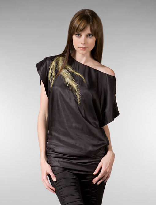 Elizabeth and James Jasmine Tunic in Smoked Glass