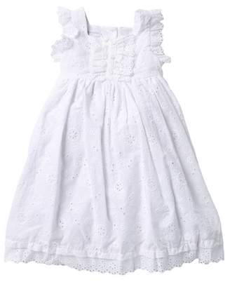 Pippa & Julie Eyelet Dress (Toddler & Little Girls)