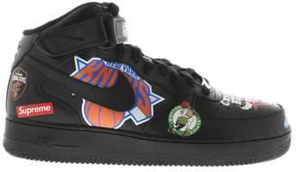 Nike Force 1 Mid Supreme NBA Black