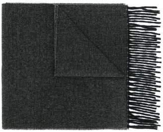 Paul Smith fringe knit scarf