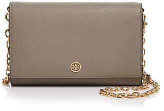Tory Burch Robinson Medium Leather Chain Wallet Crossbody