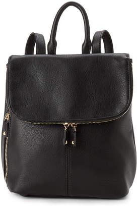 Steve Madden Black London Flap Backpack
