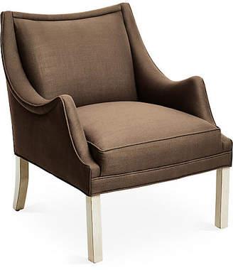 Bunny Williams Home Koko Accent Chair - Brown Linen
