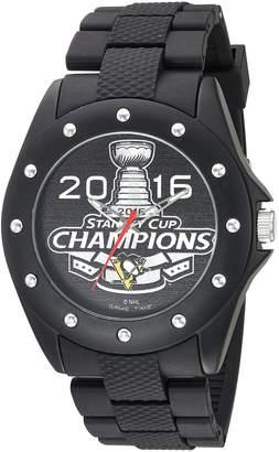 Game Time Men's NHL-BKA-PIT-CH16 Stanley Cup Champion 2016 Analog Display Japanese Quartz Black Watch