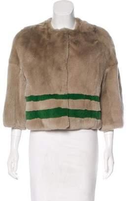 Yves Salomon Mink-Trimmed Fur Jacket