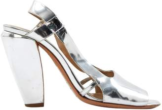 CNC Costume National Silver Leather Sandals