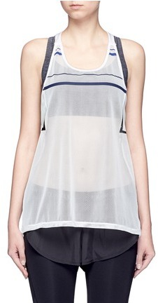 Particle Fever Stripe mesh tank top