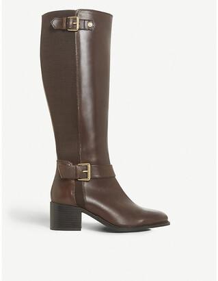 Dune Tildaa block heel leather riding boots