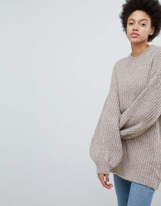 Weekday Super Oversize Knit Jumper With Balloon Sleeve