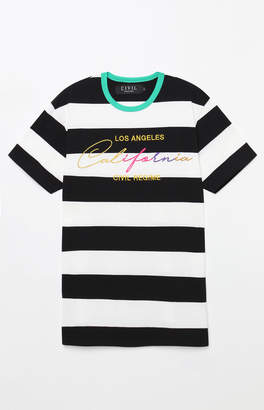 Civil Golden State Stripe Embroidery T-Shirt